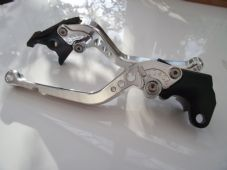 BMW F700GS (13-15), CNC levers long silver/chrome adjusters, B1/B8